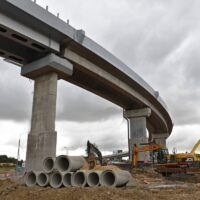 На ЦКАД приступили к строительству развязки на пересечении с Калужским шоссе